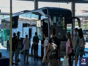 Guardar las maletas en la Estación de Autobuses