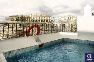 Vista desde la piscina de Ronda en el hotel Montelirio
