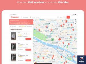 Vista de la aplicación de Nanybag