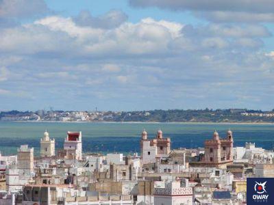Vista en altura de Cádiz