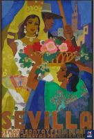 Poster of the Holy Week and Seville Fair