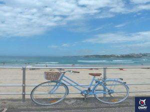 Blue bicycle