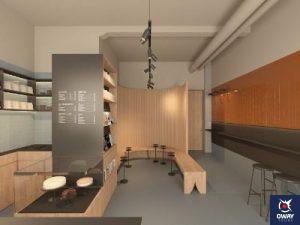 Establecimiento moderno y minimalista donde percibir el aroma de un buen café en Granada