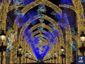 Alumbrado de Málaga en Navidad