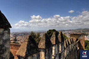 Vues du château de Gibralfaro Malaga