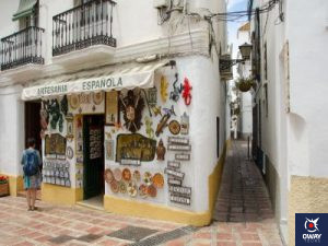 The Open Commercial Center of the Old Town of small local stores in Marbella.