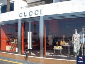 Gucci, tienda de lujo, en Marbella