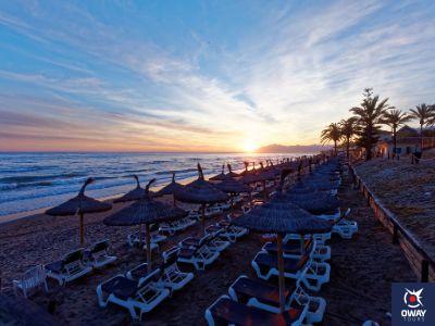 Puesta de sol en la Playa de Marbella