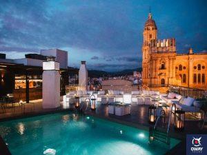 vistas sobre terraza Hotel Molina Lario (Málaga)