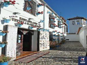 Street of the Albaicín quarter in Granada