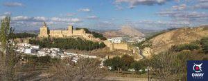 Vista panorámica de la Alcazaba de Antequera