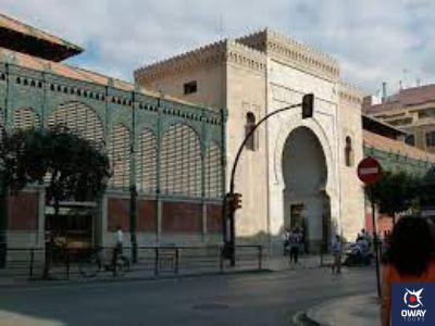 Arco de herradura del Mercado de Atarazanas de Málaga
