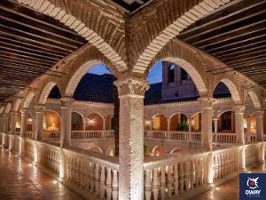 Views from the main courtyard of the Palacio de Santa Paula Autograph Collection hotel in Granada
