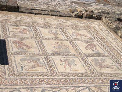 Mosaico de una domus en n Itálica, Sevilla