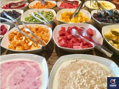 Desayuno buffet hotel de Francia y Paris Cádiz