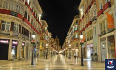 The famous Calle Larios in Malaga