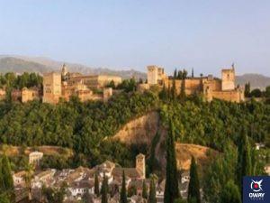 Museo de Bellas Artes ubicado en el Palacio de Carlos V, en Granada