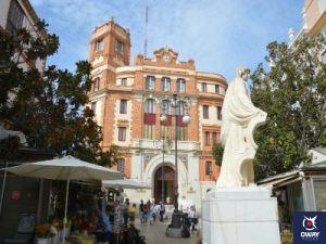 Edificio de Correos, en la Plaza de las Flores en Cádiz