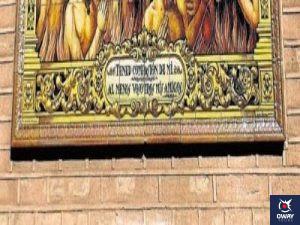 escritura azulejo el pajaro de san pedro (Sevilla)
