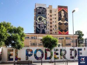 Arte y grafitis en el Barrio del Soho, Málaga