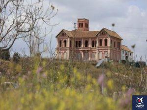 Vista desde el exterior del Cortijo Jurado en Málaga