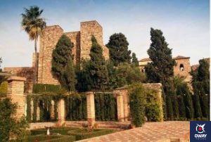Cour de l'Alcazaba de Malaga