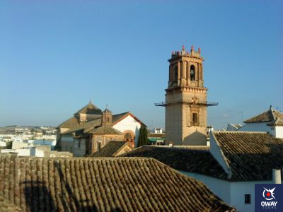 Views of the tower of the Church of San Pablo and Santo Domingo in Ecija
