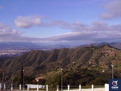 Paysage à contempler depuis les montagnes de Malaga
