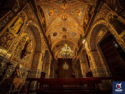 Wonderful interior decoration of the parish church of Santa María de la Asunción in Ecija