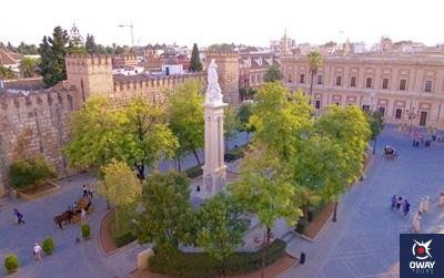 Plaza del triunfo de Sevilla