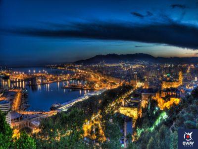 Málaga en la noche