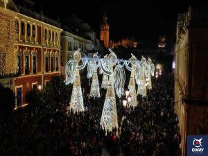 alumbrado de navidad en plaza de san francisco (Sevilla)