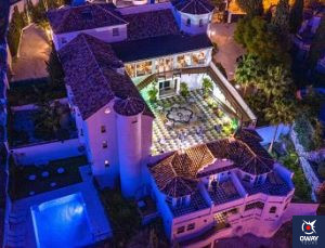 Hotel Villa Guadalupe, located in the outskirts of Malaga.
