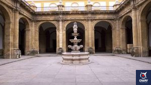 One of the 14 inner courtyards of the Real Fabrica de Tabacos of Seville