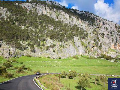 Infraestructuras de comunicación para llegar hasta la ruta de Crestería de la sierra el Pinar en Cádiz