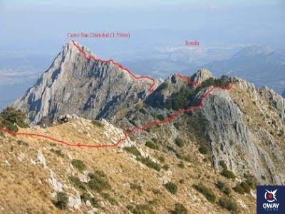 Trazado de la ruta de la Crestería de la Sierra del Pinar de Cádiz