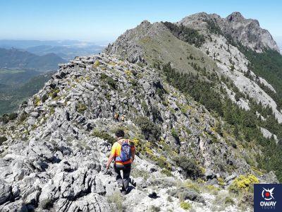 Panorámica de la ruta Crestería de la sierra del Pinar en Cádiz
