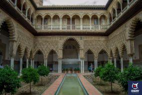 El patio de las doncellas fue el espacio utilizado como el espacio público del Palacio del Rey Pedro I, hijo de Alfonso X