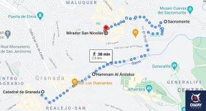 Itinerario del segundo día en Granada