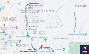 Itinerario del tercer día en Granada